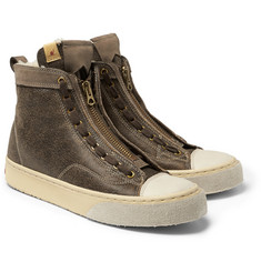 Visvim Skagway Shearling-Lined Leather Sneakers