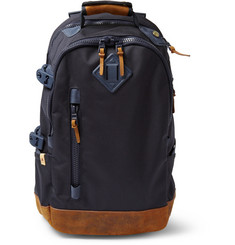 Visvim Ballistic Leather and Canvas Backpack