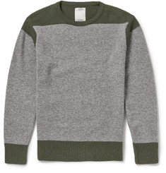 Visvim Two-Tone Knitted-Wool Sweater