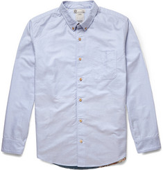 Visvim Lungta Printed Panelled Cotton-Chambray Shirt
