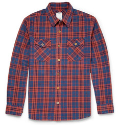Visvim Black Elk Checked Cotton-Flannel Shirt