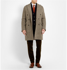 Boglioli Slim-Fit Herringbone Wool-Blend Overcoat