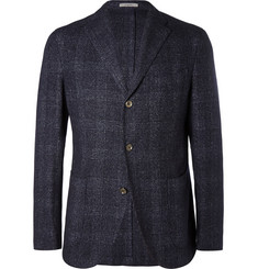 Boglioli Unstructured Check Wool, Linen and Cashmere-Blend Blazer