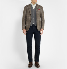 Boglioli Textured Wool, Silk and Cashmere-Blend Waistcoat
