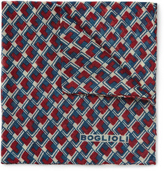 Boglioli Patterned Wool Pocket Square