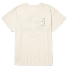 The Elder Statesman Bear-Motif Cashmere and Silk-Blend T-Shirt