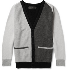 The Elder Statesman Colour-Block Wool and Cashmere-Blend Cardigan