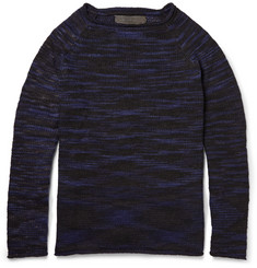 The Elder Statesman Mélange-Striped Cashmere Sweater