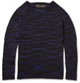 The Elder Statesman - Mélange-Striped Cashmere Sweater