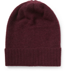 The Elder Statesman Felted-Cashmere Beanie Hat