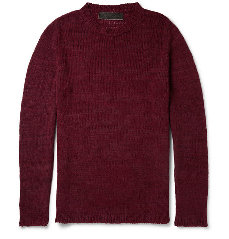 The Elder Statesman Herringbone-Knit Cashmere Sweater