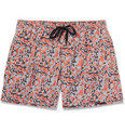 Dan Ward - Short-Length Printed Swim Shorts