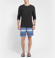 Dan Ward Mid-Length Printed Swim Shorts