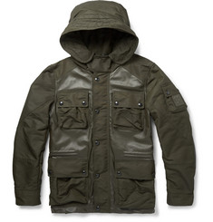 Belstaff Abbotsford Leather-Panelled Jacket