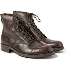 Belstaff Eldridge Burnished-Leather Boots
