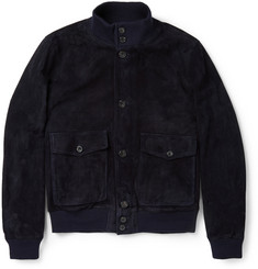 Hardy Amies Suede Bomber Jacket