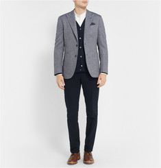 Hardy Amies Unstructured Wool and Cotton-Blend Hopsack Blazer