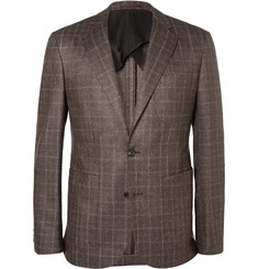 Hardy Amies Grey Slim-Fit Prince of Wales Check Wool-Blend Suit Jacket