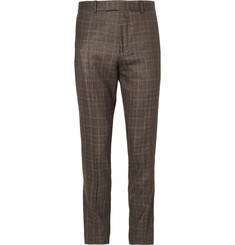 Hardy Amies Slim-Fit Prince of Wales Check Wool, Silk and Cashmere-Blend Suit Trousers