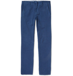 Hardy Amies Slim-Fit Brushed Woven-Cotton Trousers