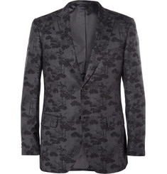 Brioni Slim-Fit Printed Wool and Silk-Blend Blazer