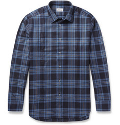 Brioni Check Cashmere-Twill Shirt