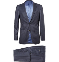 Hackett Blue Mayfair Slim-Fit Checked Wool Suit