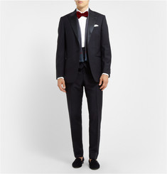Hackett Mayfair White Cotton Tuxedo Shirt