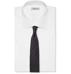 Hackett Pinstriped Wool-Flannel Tie