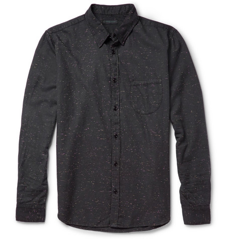 Levi's Made & Crafted Flecked Cotton-Blend Shirt