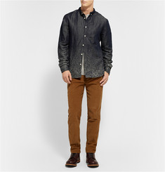 Levi's Made & Crafted Embroidered Cotton and Linen-Blend Shirt