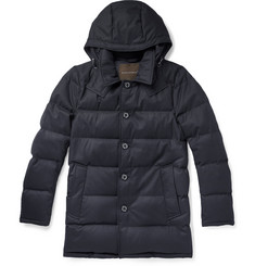Mackintosh Detachable Hood Down-Filled Wool Coat