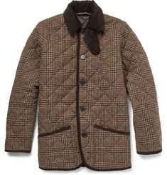 Mackintosh Waverly Prince of Wales Check Quilted Wool Jacket