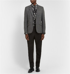 Saint Laurent Slim-Fit Check Wool-Tweed Blazer