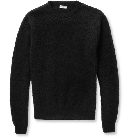 Saint Laurent Mohair-Blend Crew Neck Sweater