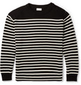 Saint Laurent - Striped Cotton and Wool-Blend Sweater