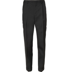 Saint Laurent Tapered High-Waist Wool-Twill Trousers