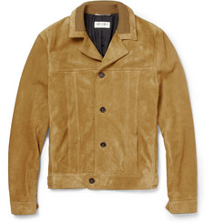 Saint Laurent Slim-Fit Suede Jacket