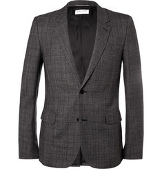 Saint Laurent Grey Slim-Fit Checked Wool Suit Jacket