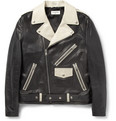 Saint Laurent - Panelled Leather Biker Jacket