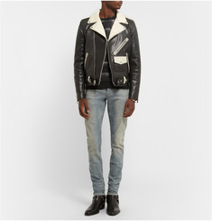 Saint Laurent Panelled Leather Biker Jacket