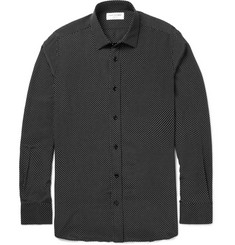 Saint Laurent Swiss Dot Silk Shirt