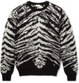 Saint Laurent - Zebra-Pattern Mohair-Blend Sweater