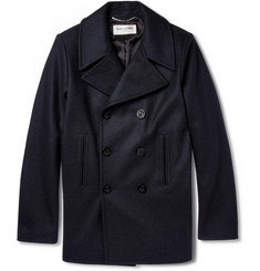Saint Laurent Slim-Fit Wool Peacoat
