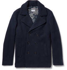 Gant Rugger Scruffy Double-Breasted Wool-Blend Peacoat