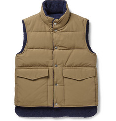 Gant Rugger Reversible Fleece Quilted Gilet