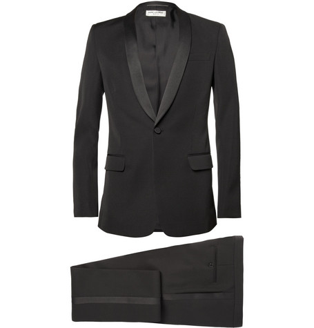 Saint Laurent Black Slim-Fit Wool Tuxedo