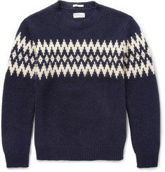 Gant Rugger Fair Isle-Jacquard Wool-Blend Sweater