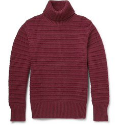 Gant Rugger Ribbed-Knit Wool-Blend Rollneck Sweater