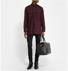 Saint Laurent Plaid Wool-Twill Shirt